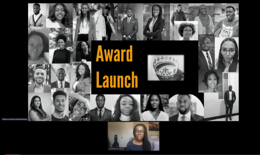 Excellence is Black award launch event slide